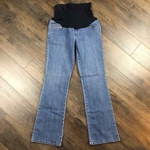 DUO Maternity Bootcut Jeans Pants Denim ((Small))